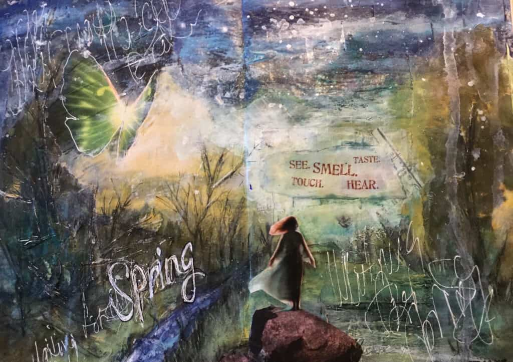 journal page, waiting for spring