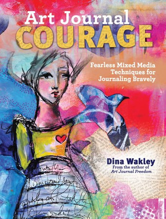 book cover art journal courage