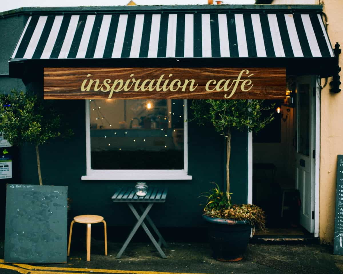 inspiration cafe w sign no trees